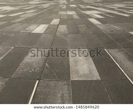 Square floor with different shades of gray rectangles pattern. #1485849620