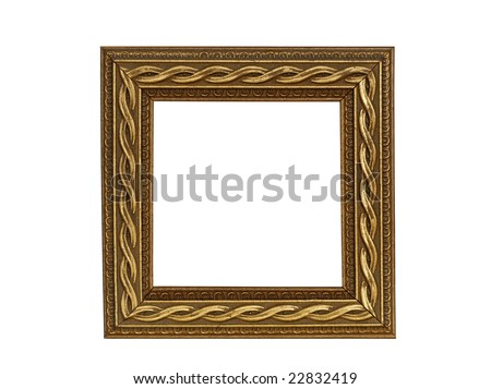square gold decorative frame