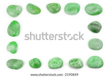 square green pebbles frame for background