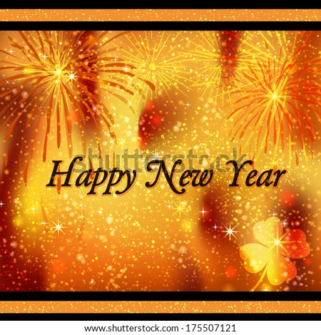 Square greeting card Happy New Year #175507121