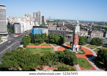 Square in Buenos Aires