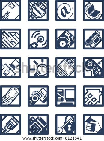 Square Internet Computing Icons