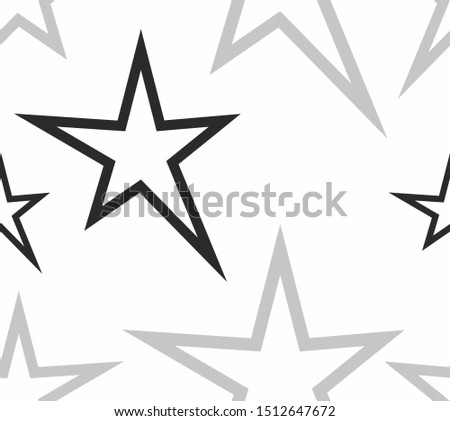 square layout. monophonic white background. repeating elements. geometric elements. stars of various shapes and sizes