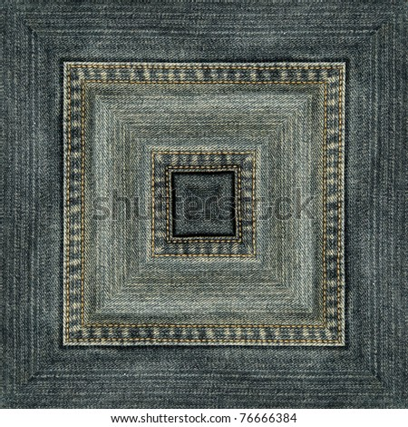 Square of jeans