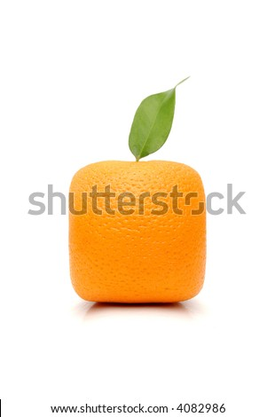 Square orange isolated on the white background