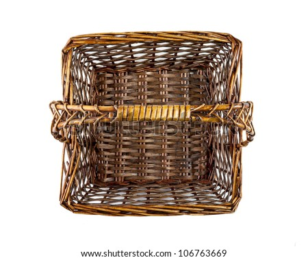 square picnic basket, top view