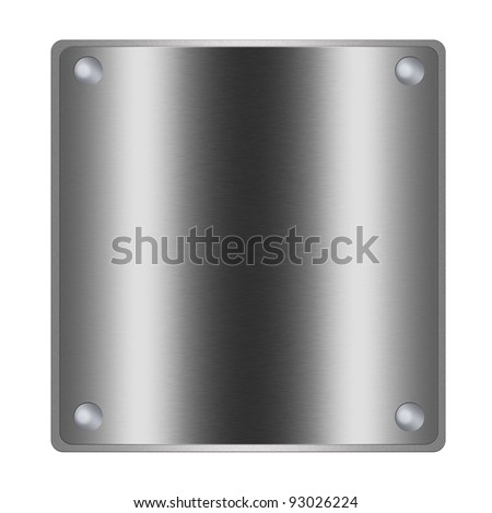 Square Plate Of Silver Metal Texture Background, Chrome ...