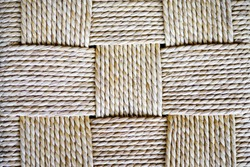 Square rope weave texture. Rope weave background.
