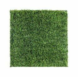 Square shaped turf and rubber granules inside