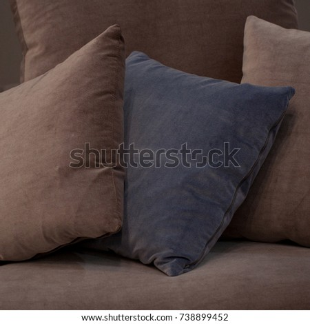 Square soft cushions creating comfort and comfort #738899452