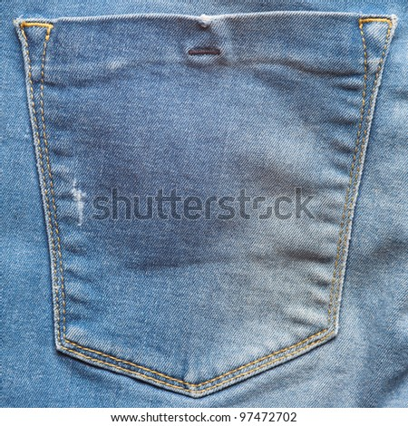square texture image of a jeans pocket