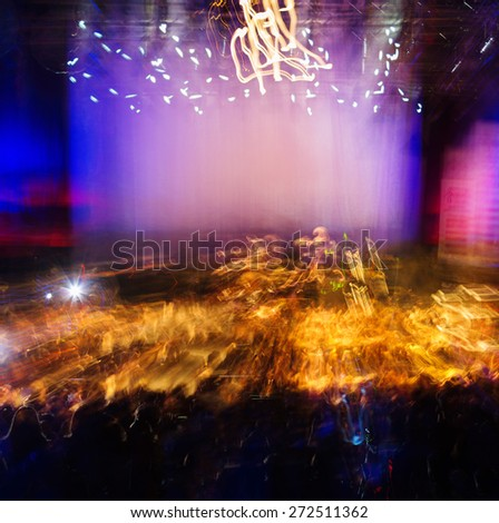 Square vivid music concert performance light abstraction background backdrop