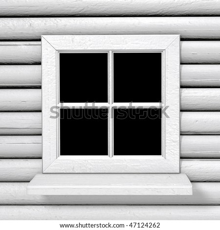 square white wood country style window