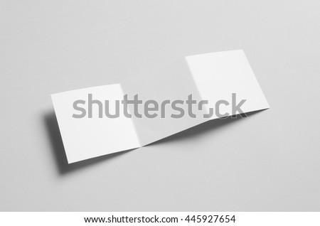 Square Z-Fold Brochure Mock-Up #445927654