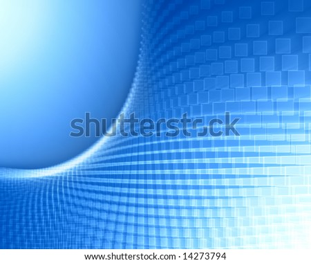 squares with white stroke on blue gradient background