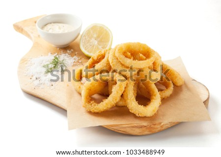 Squid rings onion rings