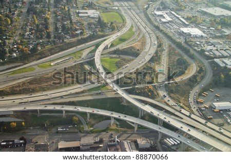 Aerial view of complex highway… Stock Photo 6234274 - Avopix com