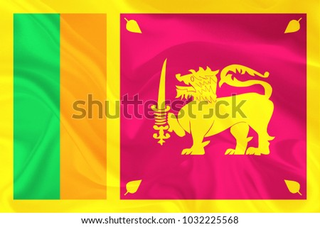 sri lanka fabric flag background