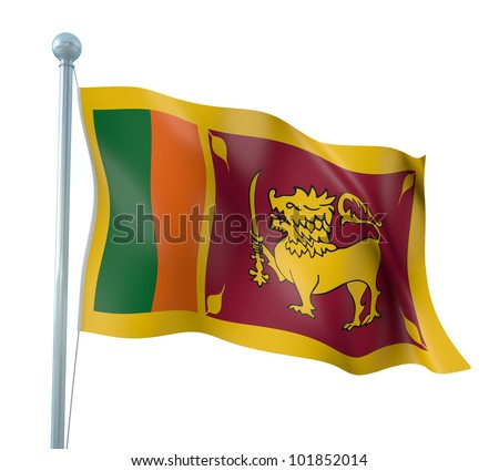 Sri Lanka Flag Detail Render