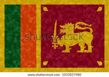 sri lanka flag polygonal design illustration