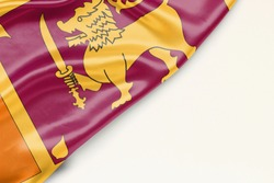 Sri Lanka flag: white background and place for text