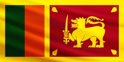 Sri Lanka flag with fabric texture