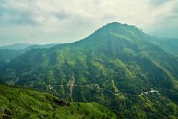 Sri Lanka, Little Adam Pick, Mountain landscape.