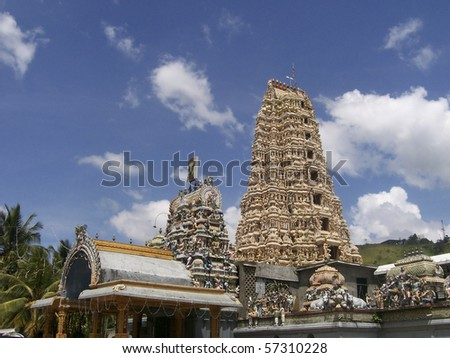 Sri Lanka - Matale - view of Hindu temple