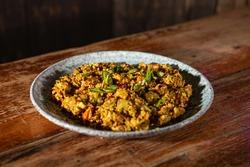 Sri Lankan kottu food on a plate