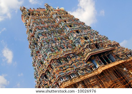 Sri Meenakshi hindu temple in Madurai, Tamil Nadu, South India
