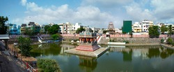 Sri Parthasarathy Temple, Hindu Vaishnavite temple dedicated to the Lord Vishnu, located at Thiruvallikeni, Chennai, India