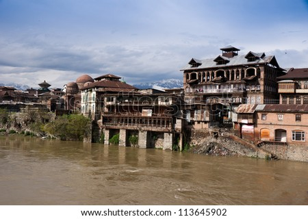 Srinagar old town , Kashmir India