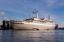 SS Rotterdam Cruiseship in the harbor of Rotterdam.