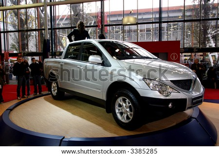 stock photo : SsangYong Actyon Sport at Motorshow Bologna 2006