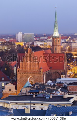St. Adalbert's Church in Wroclaw. Wroclaw, Lower Silesian, Poland. #700574386