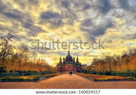 St. Alexander Nevsky Church, built in the early 20th century, Russia, Chelyabinsk