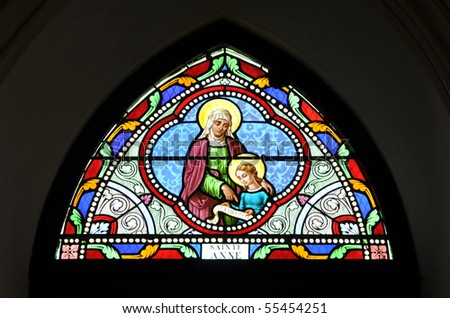 St. Anne Stained Glass Color