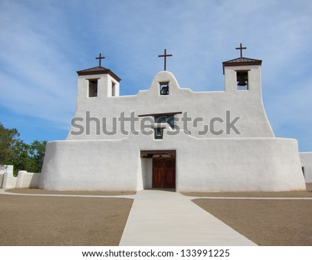 st. augustine church in isleta...