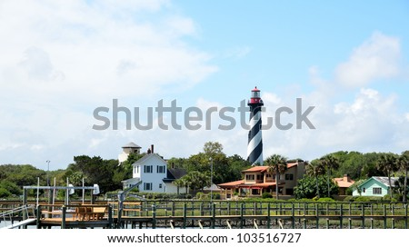 St. Augustine lighthouse in the background at St. Augustine, Florida, USA.