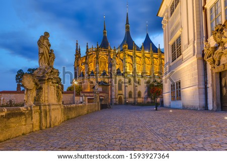 St Barbara church in town Kutna Hora - Czech Republic - travel and architecture background Foto stock ©
