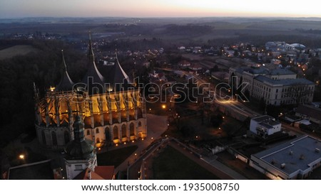 St Barbara's Church in Kutná Hora in the evening Foto stock ©