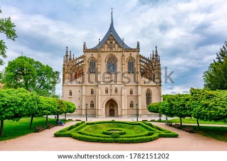 St. Barbara's Church in Kutna Hora, Czech Republic Foto stock ©