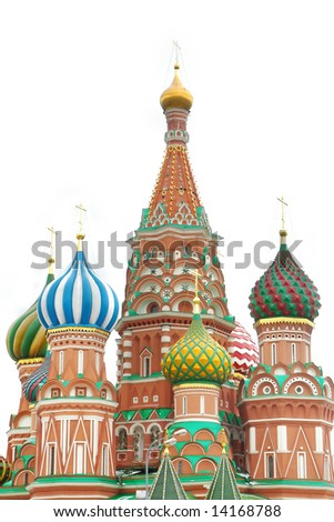 st basil cathedral over white, moscow, russia