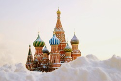 St. Basil Cathedral, Red Square, Moscow, Russia. UNESCO World Heritage Site.