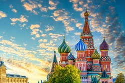 St. Basil's Cathedral ancient architecture on Red Square in Moscow, Beautiful ancient architecture building in Moscow, St. Basil's Cathedral Vasily the Blessed, Russia, Bucket list dream destination.