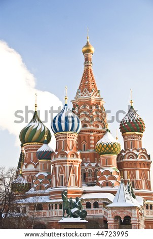 St. Basil's Cathedral in winter, Moscow