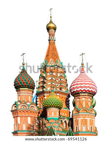 St. Basil's Cathedral on Red square, Moscow, Russia (isolated)
