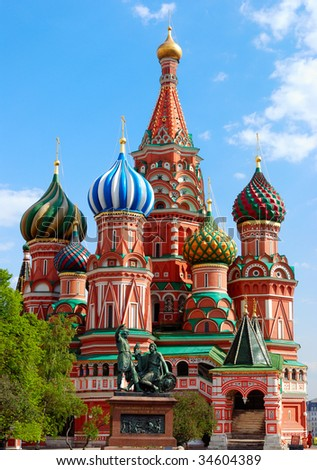 St.Basil's Cathedral on the Red Square in Moscow