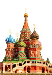 St Basils cathedral on Red Square in Moscow Russia