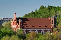 St. Bernardin churches in Vilnius, Lithuania, Spring time